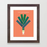 Vegetable: Leek Framed Art Print