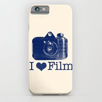 I ♥ Film (Blue/Peach) iPhone 6 Slim Case