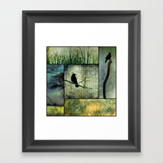 Square Of Crows Framed Art Print
