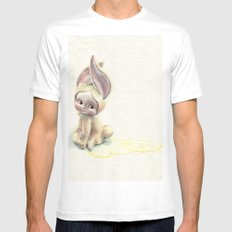Baby-Pee-a-Little White Mens Fitted Tee SMALL