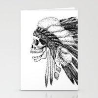 native Stationery Cards featuring Native American by Motohiro NEZU