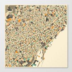 BARCELONA MAP Canvas Print