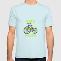 Try Have Fun Mens Fitted Tee Light Blue SMALL