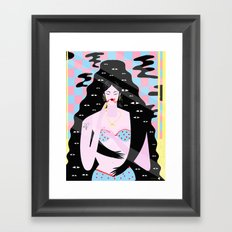 I lose myself everyday in front on the mirror Framed Art Print