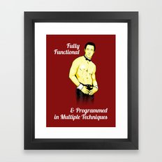 Positronic Lover Framed Art Print