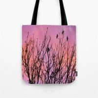 Tree Birds. Tote Bag
