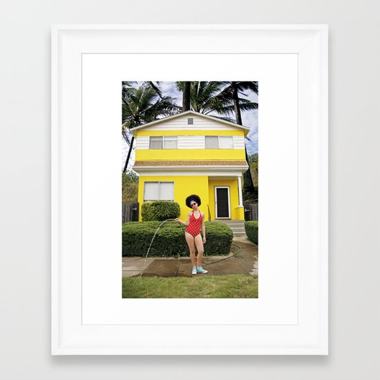 """""""Go Girl"""" Framed Art Print"""