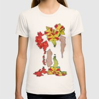 Melting Women and Orchids Womens Fitted Tee Natural SMALL