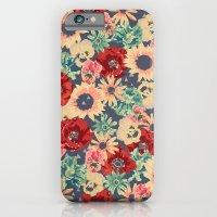 SEPIA FLOWERS -poppies, pansies & sunflowers- iPhone 6 Slim Case