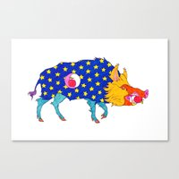 Fashion Animals, Spring … Canvas Print