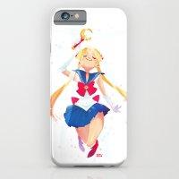 sailor moon iPhone & iPod Cases featuring Sailor Moon by Ellen Su