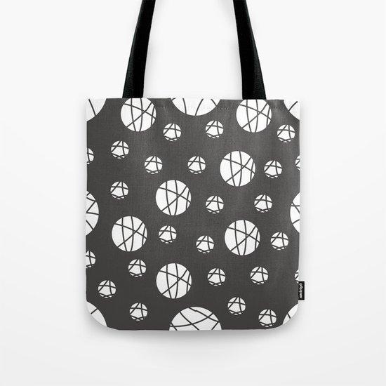 Broken Orbs (WhiteOnGray) Tote Bag