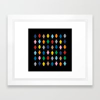 Arrows Up And Down Black Framed Art Print