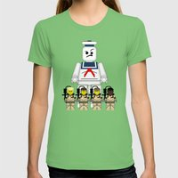 Ghostbusters  Womens Fitted Tee Grass SMALL