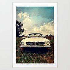 1965 Mustang Art Print