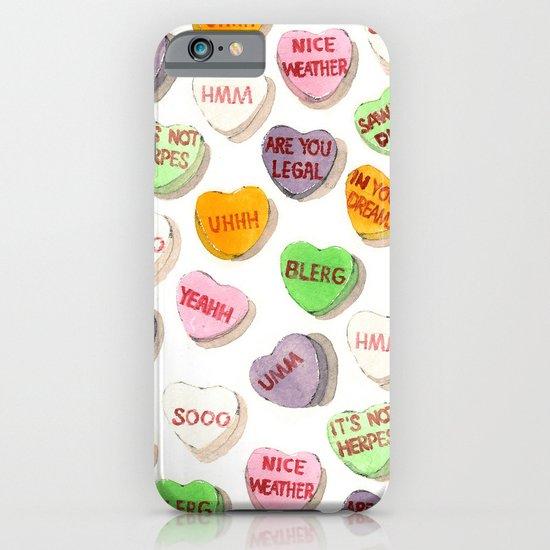 Awkward Conversation Hearts iPhone & iPod Case