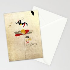 Like a bee on a flower Stationery Cards