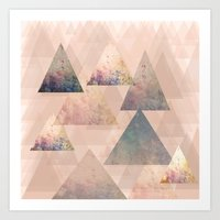 Pastel Abstract Textured… Art Print