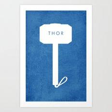 Minimalistic Thor Art Print