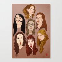 Silly Girls Canvas Print