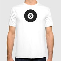 Billiard - Balls Serie Mens Fitted Tee White SMALL