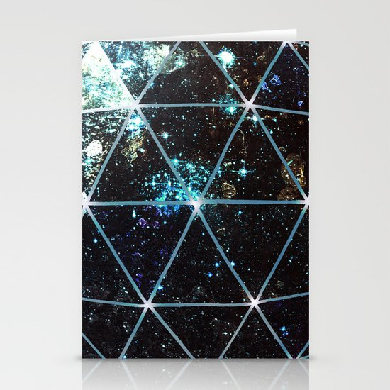 Galaxy Geodesic  Stationery Card