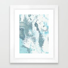 Aqua Sprawl Framed Art Print