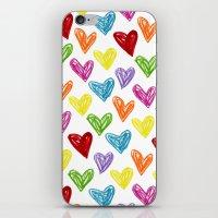 Hearts Parade iPhone & iPod Skin