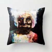 Old Paint Throw Pillow