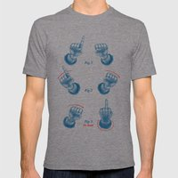 Finger Magic Trick Mens Fitted Tee Tri-Grey SMALL