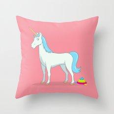 Unicorn Poop Throw Pillow