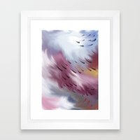 Tears And Clouds Framed Art Print