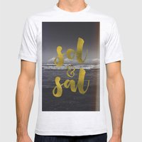 Sol & Sal Mens Fitted Tee Ash Grey SMALL