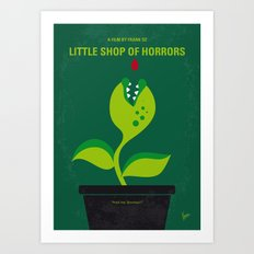 No611 My Little Shop of Horrors minimal movie poster Art Print