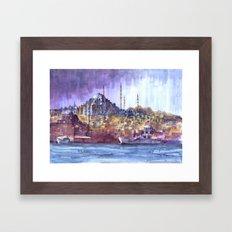Eminönü Skyline Framed Art Print