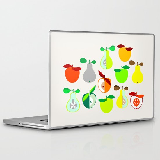 Apples and Pears / Geometrical 50s pattern of apples and pears Laptop & iPad Skin