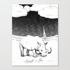 Rhino during Midnight in Paris Canvas Print