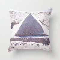 Sandy Triangle  Throw Pillow