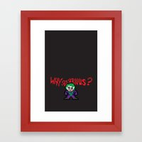 The Dark Pixel Framed Art Print