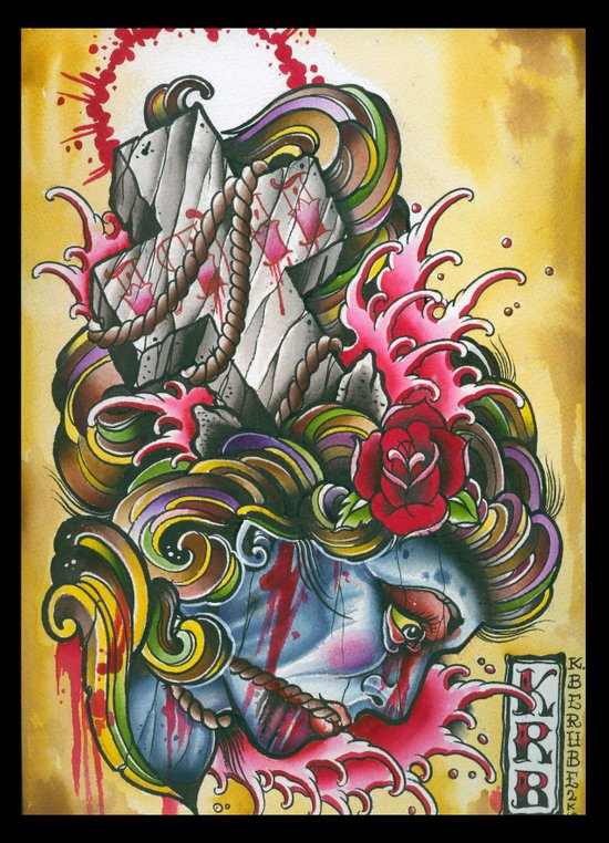 crossed gypsey Art Print