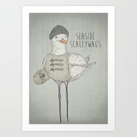 SEASIDE SCALLYWAGS Art Print