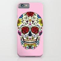 sugar skull iPhone & iPod Cases featuring Sugar Skull by Jade Boylan