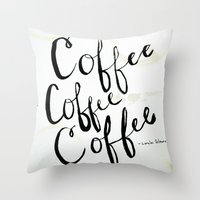 COFFEE COFFEE COFFEE Throw Pillow