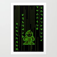 The Pixel Matrix Art Print