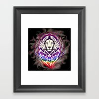 Lion Psychedelic Pop Art Framed Art Print