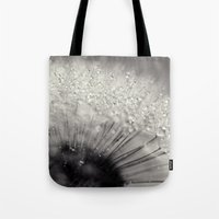 Drops On A Dandelion Tote Bag