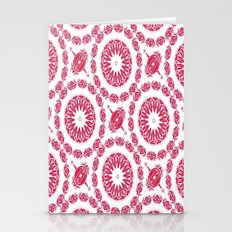 Ruby Mandala Tile Stationery Cards