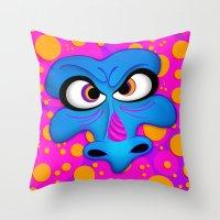 The Blue Dragon Throw Pillow