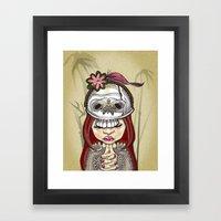 Wearing my lucky skull Framed Art Print