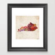 Kentucky Map Framed Art Print